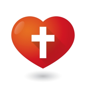 Heart icon with a cross